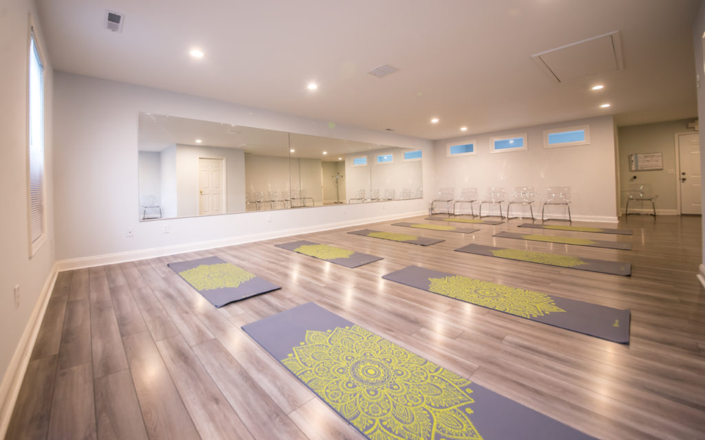 yoga room at Rehoboth Beach at Rehoboth Massage